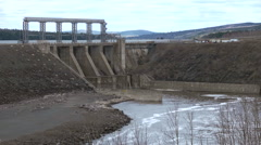 Mactaquac, New Brunswick Hydro Electric Dam. Stock Footage