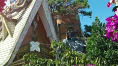 Hang Nga Crazy House, a popular attraction with surreal architecture in Dalat Stock Footage