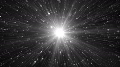 Abstract Silver Background With Rays Sparkles. - stock footage