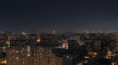 Moscow uptown timelapse (night and day) Stock Footage