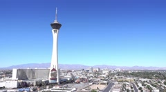 Stock Video Footage of Stratosphere Establishing Shot