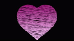 Love heart being drawn sketchbook scribble style animation pink white Stock Footage