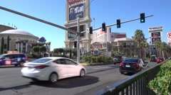 Jib Establishing Shot Caesars Palace Las Vegas - stock footage