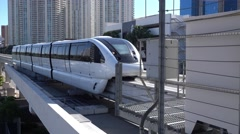 Las Vegas Monorail Jib Establishing Shot - stock footage