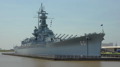 Battleship USS Alabama Stock Footage