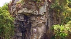 Climbing - Dapa -Valle Del Cauca - Colombia Stock Footage