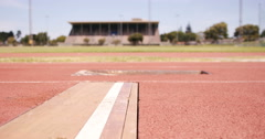 Sportsperson doing long jump - stock footage