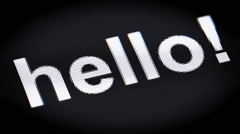 """hello!"" on the screen Stock Footage"