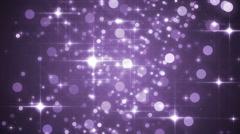 Lights violet bokeh background. Stock Footage