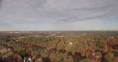 Suburban Flyover in Autumn. Stock Footage