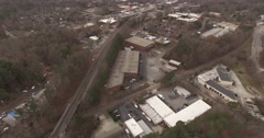Aerial view of Cary, NC. Stock Footage