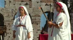 Rome birthday Palilia Vestal Stock Footage
