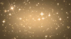 Stars gold bright motion background. - stock footage