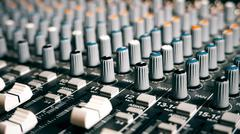Mixing Board Sound Knobs - stock photo