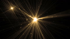 Abstract Gold Background With Rays Sparkles. - stock footage