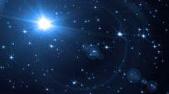 Abstract Blue Background With Rays Sparkles. - stock footage
