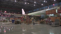 China Airbus Factory inside Stock Footage