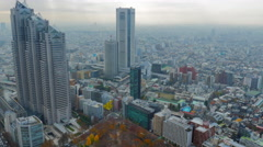 Tokyo city time lapse on cloudy day Stock Footage