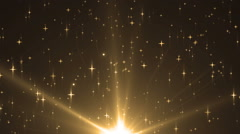 Stock Video Footage of Abstract Gold Background With Rays Sparkles.