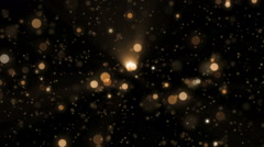 Space orange background with particles. - stock footage