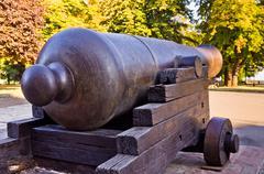 Old cannon with a big barrel, Kalemegdan fortress, Belgrade Stock Photos