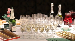 Alcoholic Drinks At The Presentation - stock footage