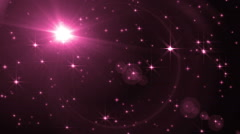 Abstract Pink Background With Rays Sparkles. - stock footage