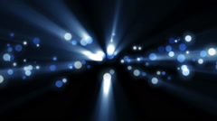 Space blue background with particles. - stock footage