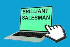 Brilliant Salesman concept - stock illustration
