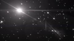 Stock Video Footage of Abstract Silver Background With Rays Sparkles.