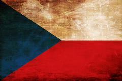 Czech flag - stock illustration
