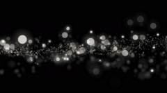 Space silver background with particles. - stock footage
