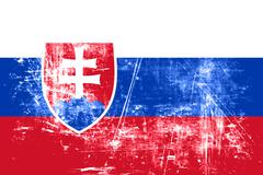 Slovakia flag Stock Illustration