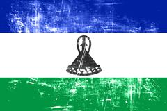 Lesotho flag Stock Illustration