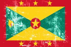 Grenada flag - stock illustration