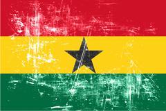 Ghana flag Stock Illustration