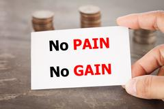 No pain no gain inspirational quote Stock Photos
