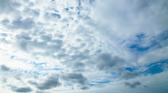 Taymlaps daytime sky with fluffy clouds Stock Footage