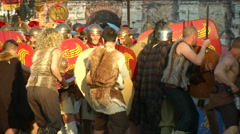 Rome civil war battle Stock Footage