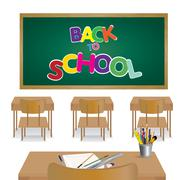 Stock Illustration of Welcome back to school. Classroom of student.