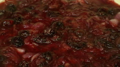 Cooking cranberry sauce Stock Footage