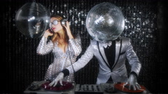 Disco mr discball party music club entertainment comedy 4k Stock Footage