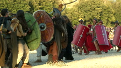 Rome civil war battle Stock Footage