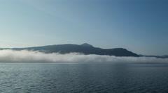 Lake water norway nature timelapse cloud mist haze 4k Stock Footage