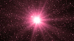 Abstract Pink  Background With Rays Sparkles. Stock Footage