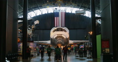 Space Shuttle Discovery at Air and Space Museum in Chantilly, VA 4K Stock Footage