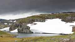 Norway glacier arctic nature snow ice nigardsbreen 4k Stock Footage