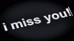 I miss you! Stock Footage
