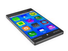 Phone on white background. Isolated 3D image Stock Illustration