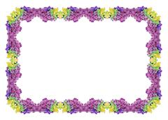 Frame with multicolored ink drop swirling in water. - stock photo